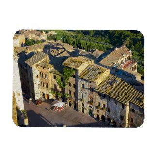 Ciudad vieja de San Gimignano, Siena, Toscana, Iman Flexible