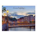 Ciudad vieja del río de Lucerna Suiza Reuss de la  Tarjeta Postal