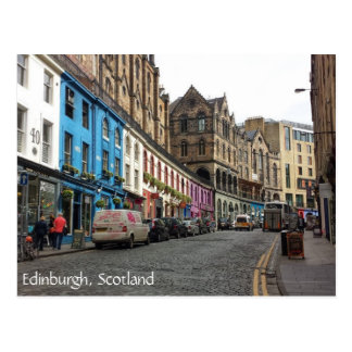 Ciudad vieja Edimburgo Escocia Tarjeta Postal