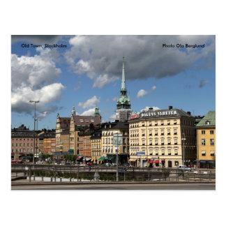 Ciudad vieja, Estocolmo, Ola B de la foto… Postal