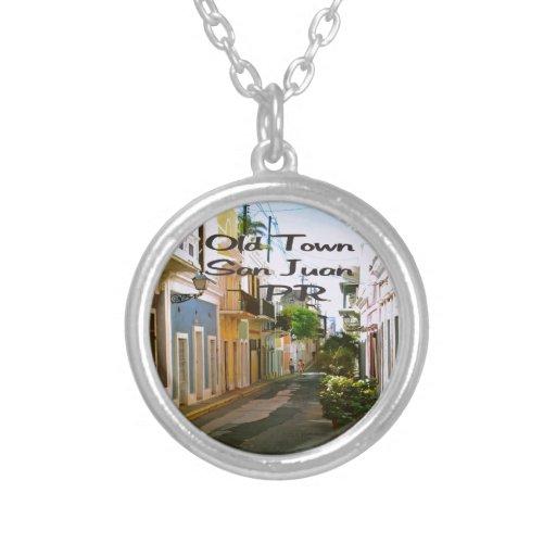 Ciudad vieja San Juan Puerto Rico Pendiente Personalizado