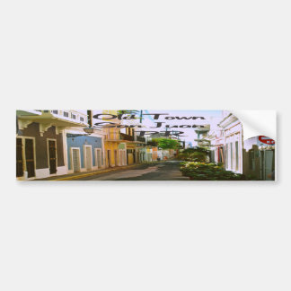 Ciudad vieja San Juan Puerto Rico Pegatina Para Auto