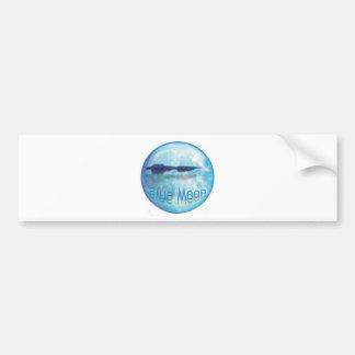 Ciudad WaveZ de la luna azul Etiqueta De Parachoque