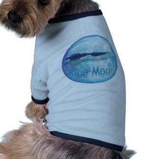 Ciudad WaveZ de la luna azul Camisetas De Mascota