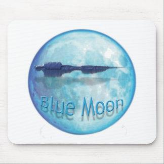 Ciudad WaveZ de la luna azul Tapetes De Ratones
