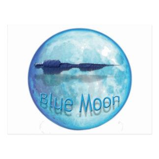 Ciudad WaveZ de la luna azul Tarjetas Postales