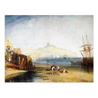 Ciudad y castillo de Guillermo Turner Scarborough Tarjetas Postales