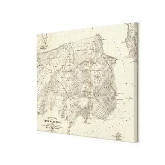 Ciudad y condado de San Francisco Lienzo Envuelto Para Galerias