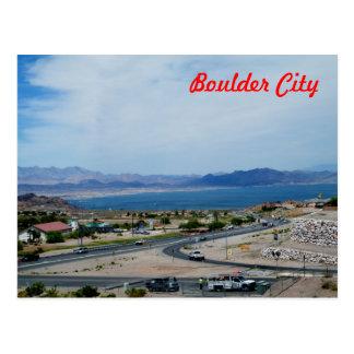 Ciudad y el lago Mead de Boulder Tarjetas Postales