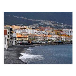 Ciudad y playa de Candelaria en Tenerife Tarjetas Postales