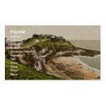 Ciudad y playa superiores, Granville, Francia pH c Plantilla De Tarjeta De Negocio