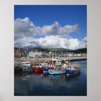 Ciudad y puerto, cañada, condado Kerry, Póster