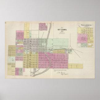 Ciudad y Williamsburg, Kansas de Ottawa Póster