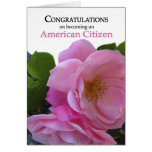 Ciudadanía de los E.E.U.U. de la enhorabuena que o Felicitacion