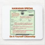 Ciudadanía hawaiana Backg transparente del Special Alfombrillas De Ratón
