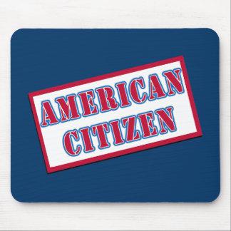 Ciudadano americano alfombrillas de raton