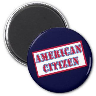 Ciudadano americano imán redondo 5 cm