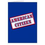 Ciudadano americano tarjeta