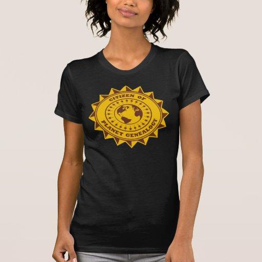 Ciudadano de la genealogía del planeta camiseta
