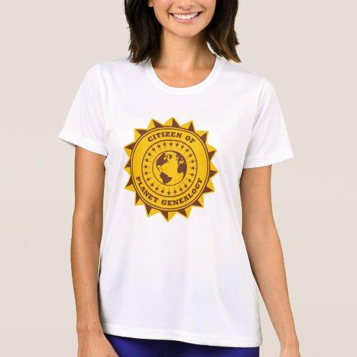 Ciudadano de la genealogía del planeta camisetas