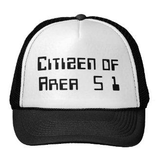 Ciudadano del área 51 gorros