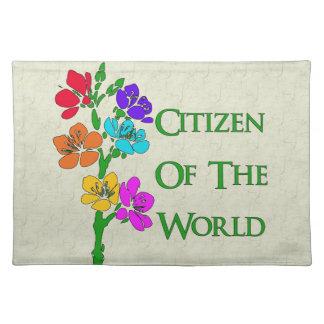 Ciudadano del mundo manteles individuales
