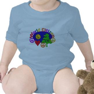 Ciudadano del mundo traje de bebé