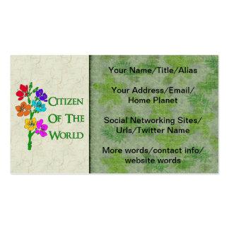 Ciudadano del mundo tarjetas de visita