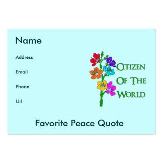 Ciudadano del mundo tarjetas de visita grandes