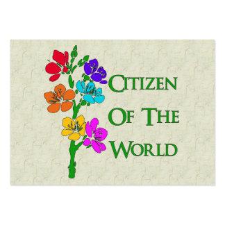 Ciudadano del mundo tarjeta de visita