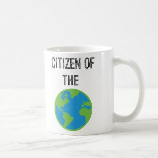 Ciudadano del mundo taza de café