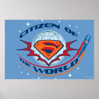 Ciudadano del superhombre del mundo póster