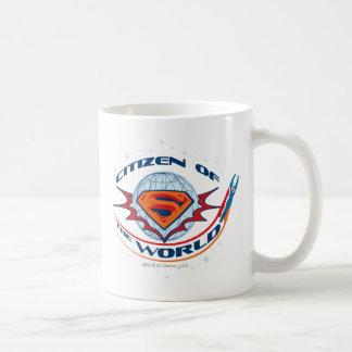 Ciudadano del superhombre del mundo tazas