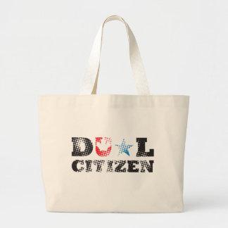 Ciudadano dual bolsa tela grande