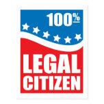 Ciudadano legal del 100% postales