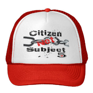 Ciudadano no sujeto gorra