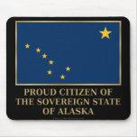 Ciudadano orgulloso de Alaska Alfombrillas De Ratón
