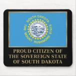 Ciudadano orgulloso de Dakota del Sur Tapetes De Ratón