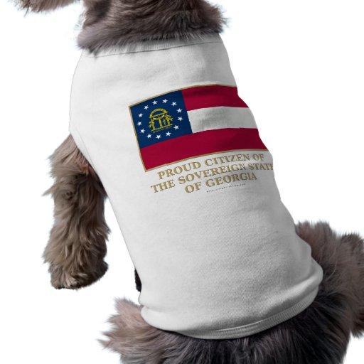 Ciudadano orgulloso de Georgia Camisas De Mascota