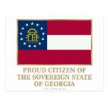 Ciudadano orgulloso de Georgia Tarjetas Postales