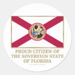 Ciudadano orgulloso de la Florida Etiquetas Redondas