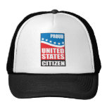 Ciudadano orgulloso de los E.E.U.U. Gorras De Camionero