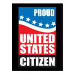 Ciudadano orgulloso de los E.E.U.U. Postal