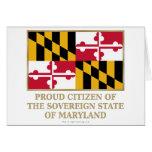 Ciudadano orgulloso de Maryland Felicitación