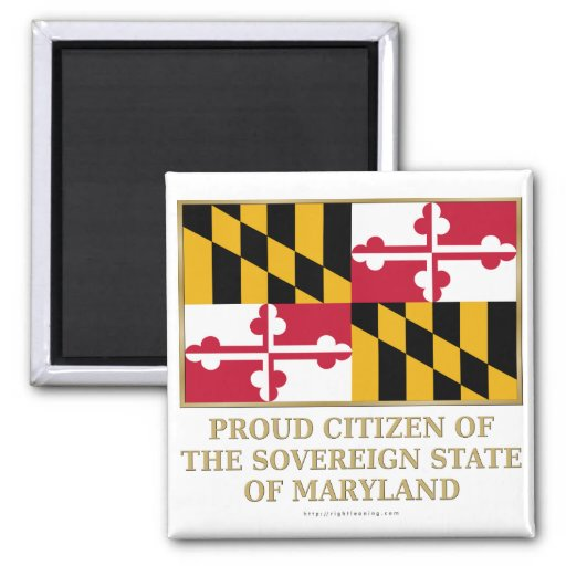 Ciudadano orgulloso de Maryland Imanes Para Frigoríficos