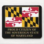Ciudadano orgulloso de Maryland Tapete De Ratones