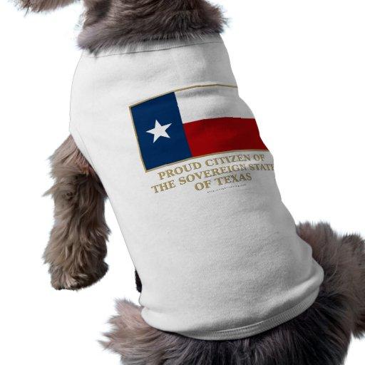 Ciudadano orgulloso de Tejas Playera Sin Mangas Para Perro