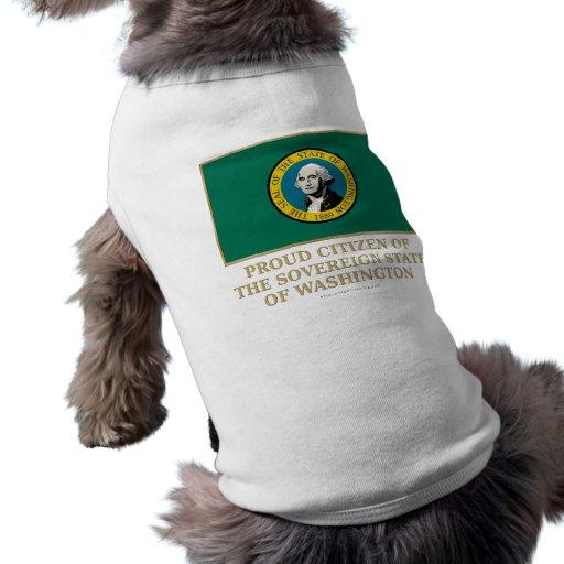 Ciudadano orgulloso de Washington Camiseta De Perro