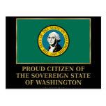 Ciudadano orgulloso de Washington Tarjetas Postales