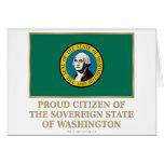 Ciudadano orgulloso de Washington Tarjetón